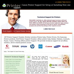 Canon Printer Setup Support