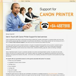 canon: Get in Touch with Canon Printer Support for best services