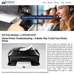 Canon Printer Troubleshooting