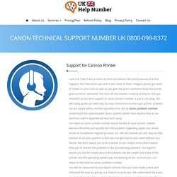 Canon Support 0800-098-8372 Canon Printer Support