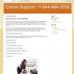 Canon Support - 1-844-464-2039: Call us now at +1-844-464-2039