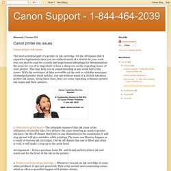 Canon Support - 1-844-464-2039: Canon printer ink issues