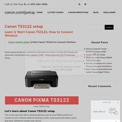 canon ts3122 wireless setup