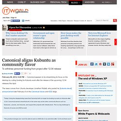 Canonical aligns Kubuntu as community flavor