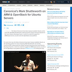 Canonical CEO on ARM and OpenStack for Ubuntu Servers: Cloud «