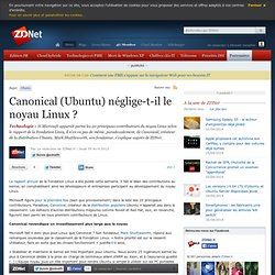 Canonical (Ubuntu) néglige-t-il le noyau Linux ?