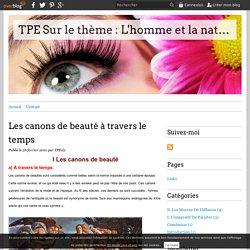 Les canons de beauté à travers le temps - TPE Sur le thème : L'homme et la nature