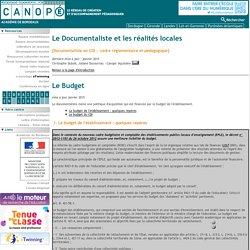 budget du cdi et de l'établissement CRDP Aquitaine / politique documentaire janvier 2015