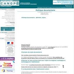 CRDP Aquitaine : projet documentaire et politique documentaire