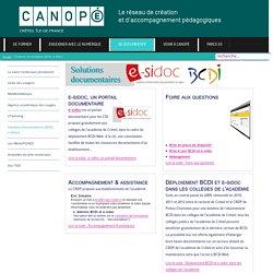 Canopé Créteil - Accompagnement BCDI et e-sidoc