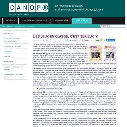 Canopé Créteil - Des jeux en classe, c'est sérieux ?