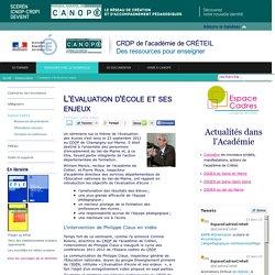 Canopé Créteil - L'évaluation d'école et ses enjeux