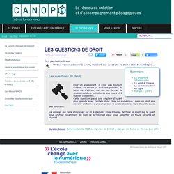 Canopé Créteil - Les questions de droit