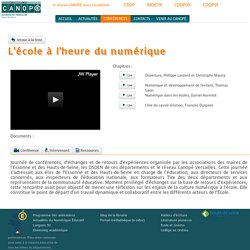 CANOPÉ HdS - L'école à l'heure du numérique - Séminaire de Sceaux