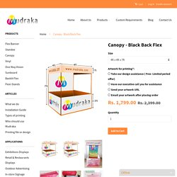 Canopy - High Quality Black Back Flex Canopy at Cheap Prices Online – Mudraka