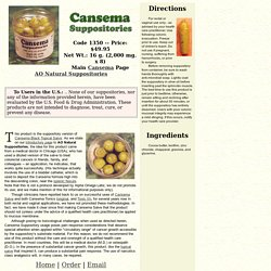 Cansema Suppositories