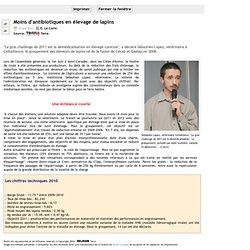 TERRA 10/06/11 Moins d'antibiotiques en élevage de lapins