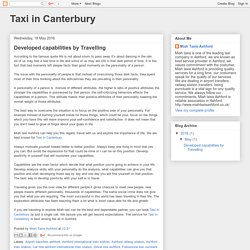 Taxi in Canterbury: Developed capabilities by Travelling