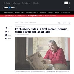 Canterbury Tales is first major literary work developed as an app