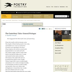 The Canterbury Tales: General Prologue by Geoffrey Chaucer