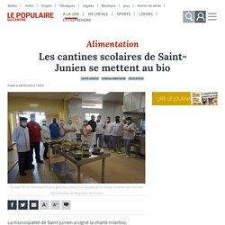 LE POPULAIRE DU CENTRE 28/09/20 Les cantines scolaires de Saint-Junien se mettent au bio