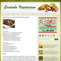 Végétarien coin: Salade grecque avec des pois chiches et la buse de radis (vegan)