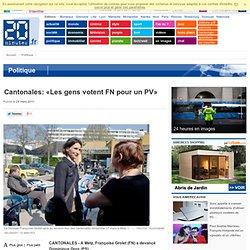 Cantonales: «Les gens votent FN pour un PV»