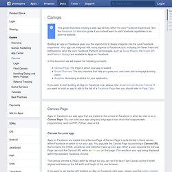 Apps on Facebook.com - Développeurs Facebook
