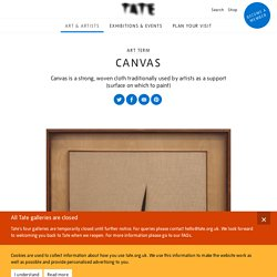 Canvas – Art Term
