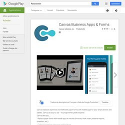 Canvas Business Apps & Forms
