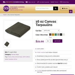 Get access to Waterproof Canvas Tarps