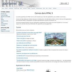 Canvas dans HTML 5