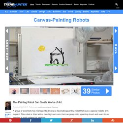 Canvas-Painting Robots : painting robot