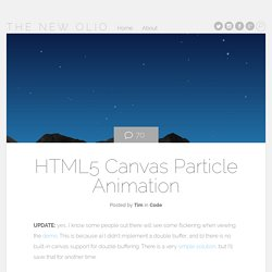 HTML5 Canvas Particle Animation