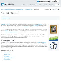 Canvas tutorial - MDC