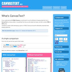 CanvasText, An easy way to draw styled text into your HTML5 canvas.