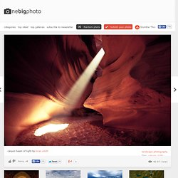 canyon beam of light photo