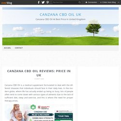 Canzana CBD Oil Reviews: Price In UK - Canzana CBD Oil UK