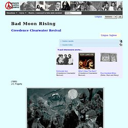 Canzoni contro la guerra - Bad Moon Rising