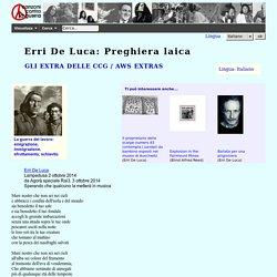 Canzoni contro la guerra - Erri De Luca: Preghiera laica