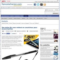 Des stylos Bic avec embout en caoutchouc pour écrans tactiles