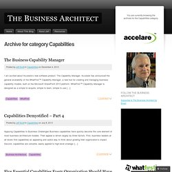 The Business Architect