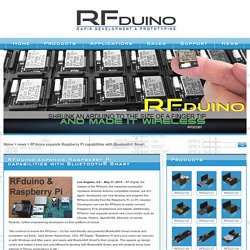 RFduino expands Raspberry Pi capabilities with Bluetooth® Smart