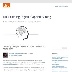 Designing for digital capabilities in the curriculum: what's new?