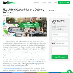 Five Untold Capabilities of a Delivery Software