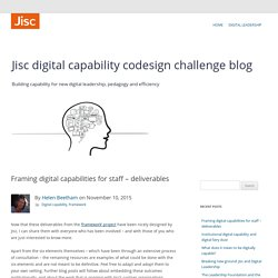 Framing digital capabilities for staff – deliverables