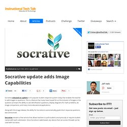 Socrative update adds Image Capabilities