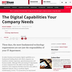 The Digital Capabilities Your Company Needs