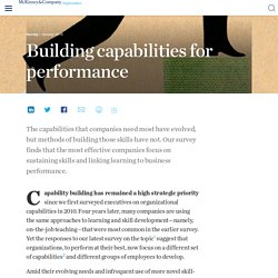 Building capabilities for performance