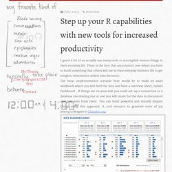 Step up your R capabilities with new tools for increased productivity « Stats raving mad
